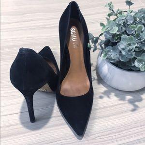 Schutz Black Sued Heels